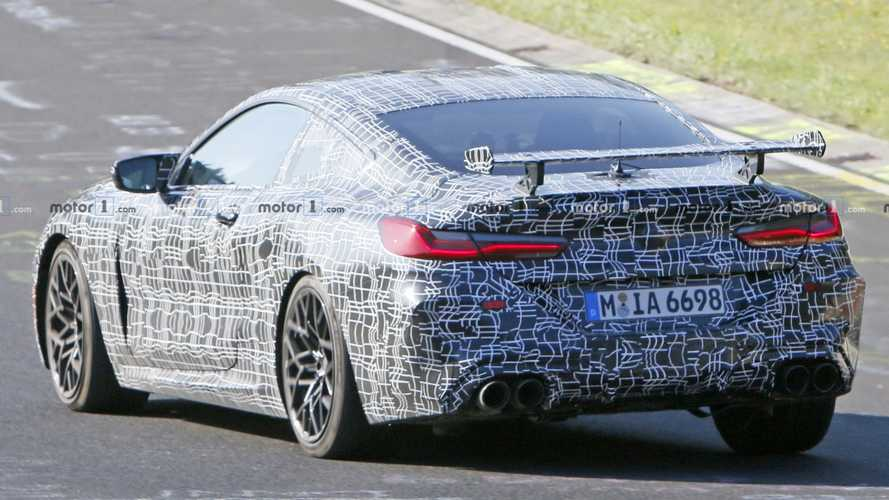 BMW M8 Coupe Spied Testing With Huge Rear Spoiler