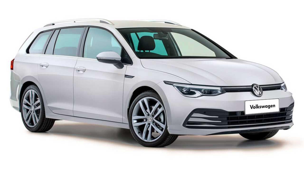 2021 VW Golf Wagon рендеринг