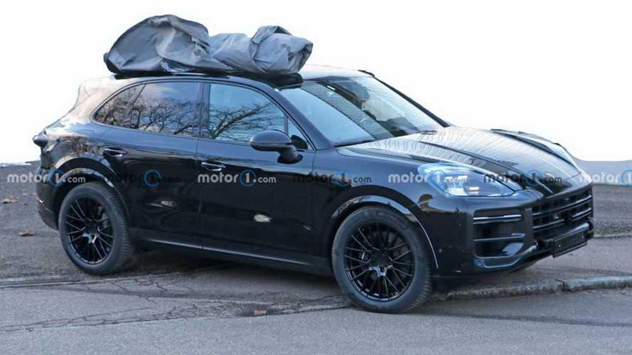 2022 Porsche Cayenne Facelift Spy Photo Vorderansicht