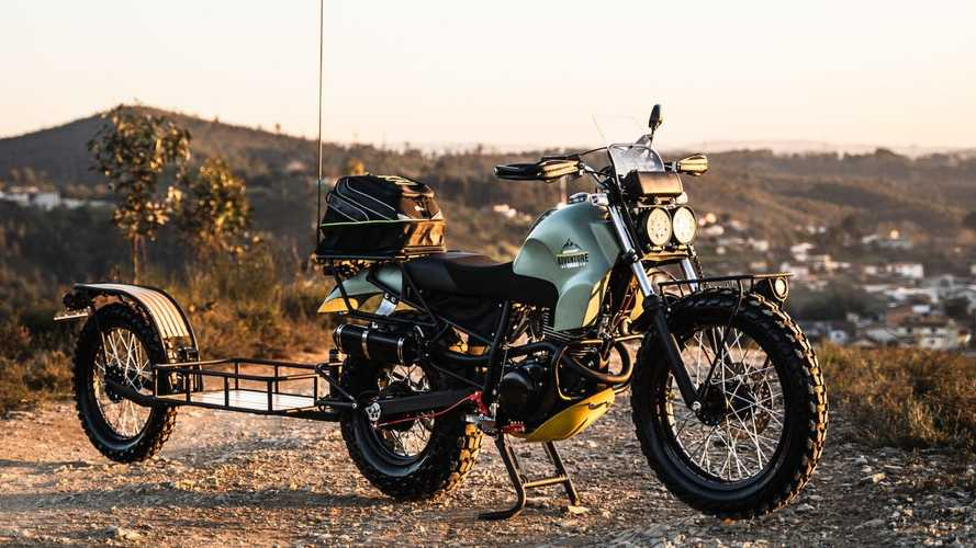 This Custom Yamaha TW125 Is Ready To Outlast The Apocalypse