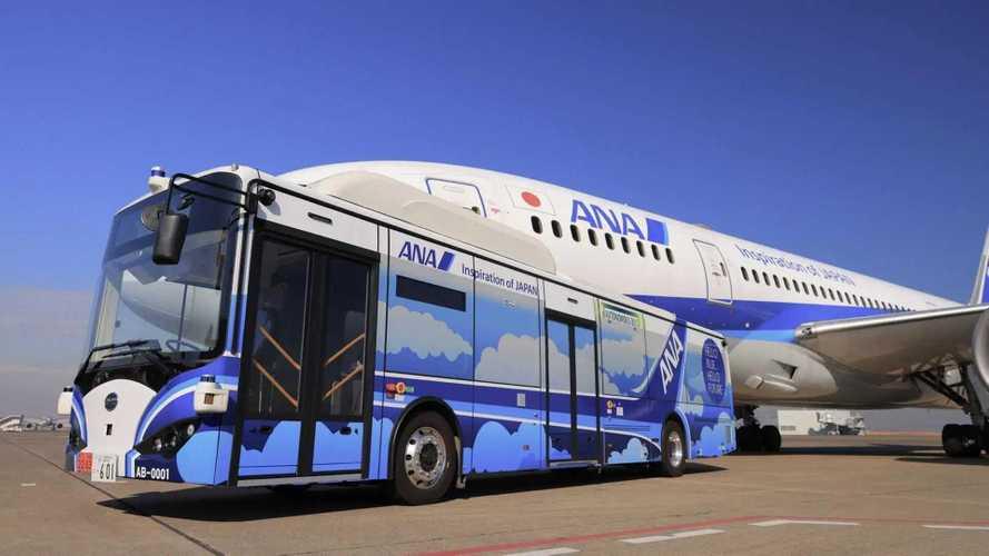 Ônibus elétrico autônomo entrará em operação no Aeroporto de Tóquio