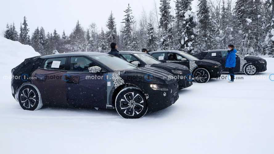Genesis GV60, Kia CV ve Hyundai Ioniq 5 ile birlikte görüntülendi