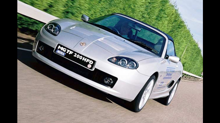 MG TF 200 HPD: Hybrid-Roadster wird von 200 PS angefeuert