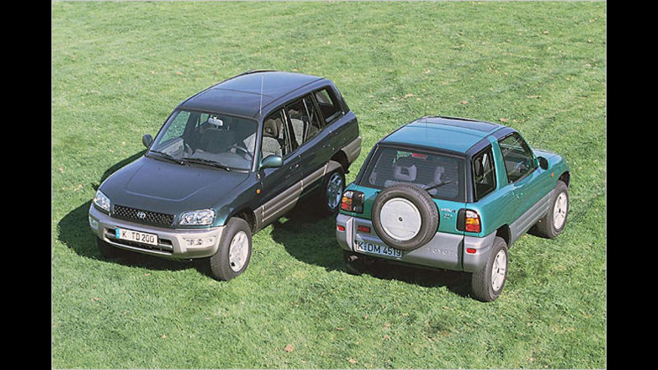 Top: Zehn bis elf Jahre alte Autos
