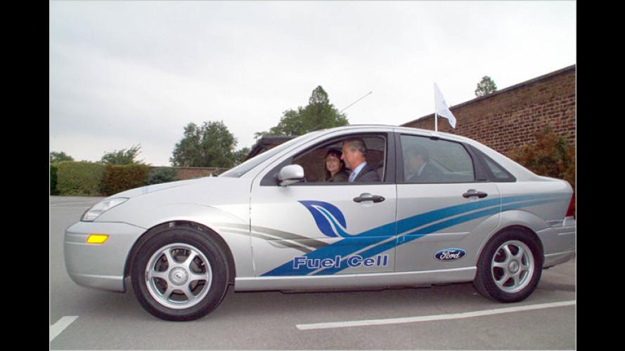 Eine saubere Sache: Prinz Charles fährt Wasserstoff-Auto