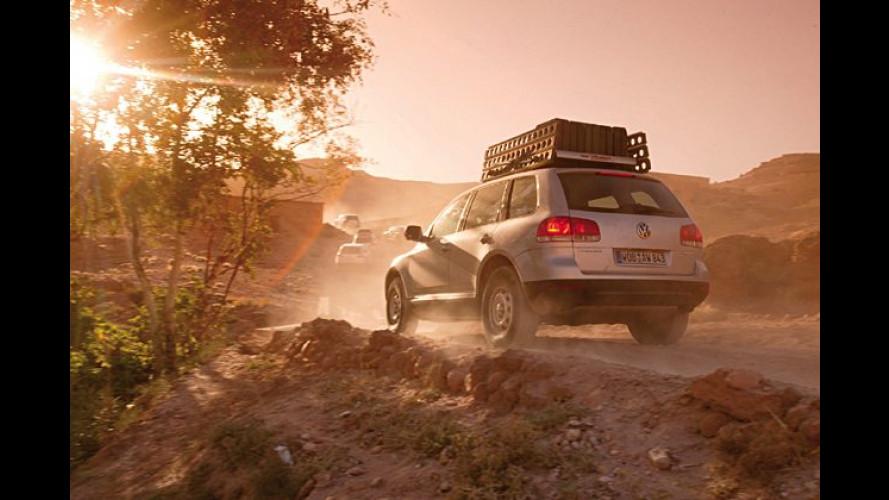 Erlebnis für Kunden: Mit dem VW Touareg durch die Wüste