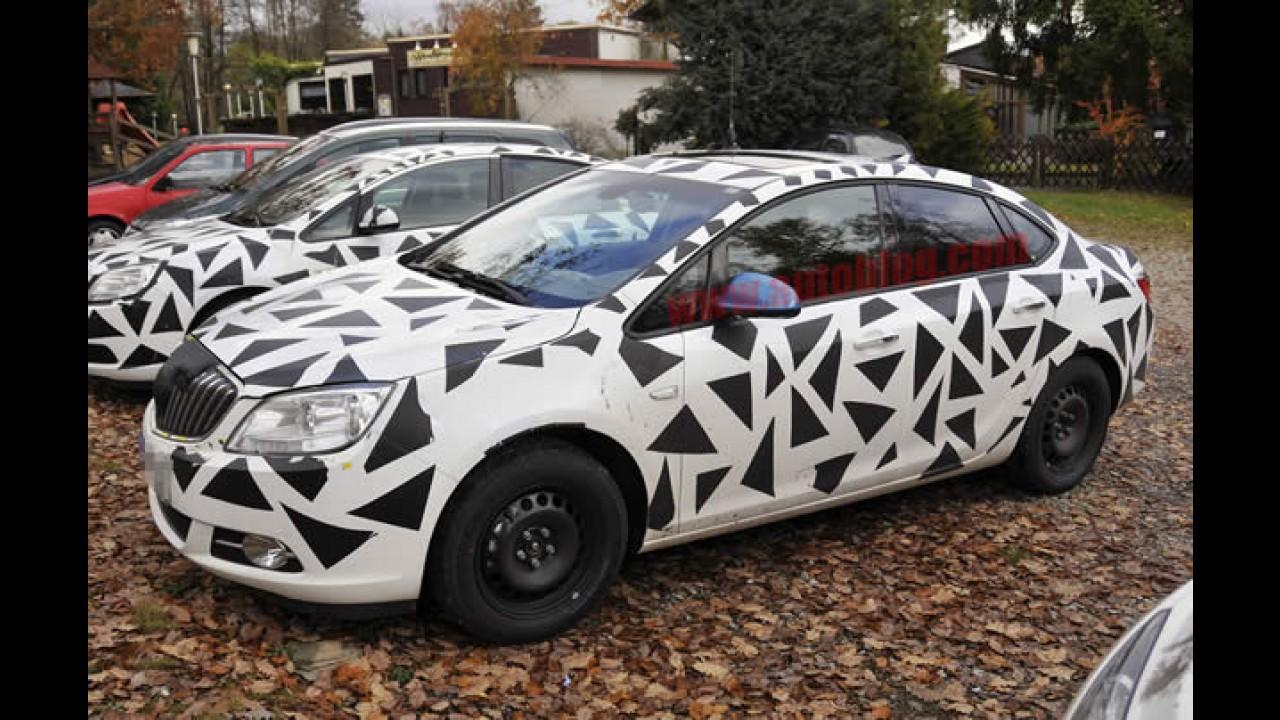 Novo Astra Sedan Europeu aparece em teaser de novo sedan compacto da Buick