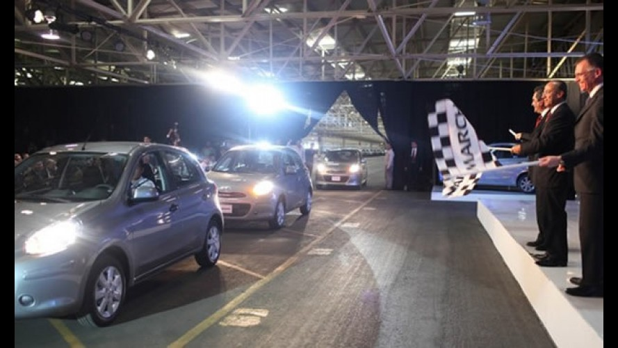 México: Nissan inicia produção do compacto March