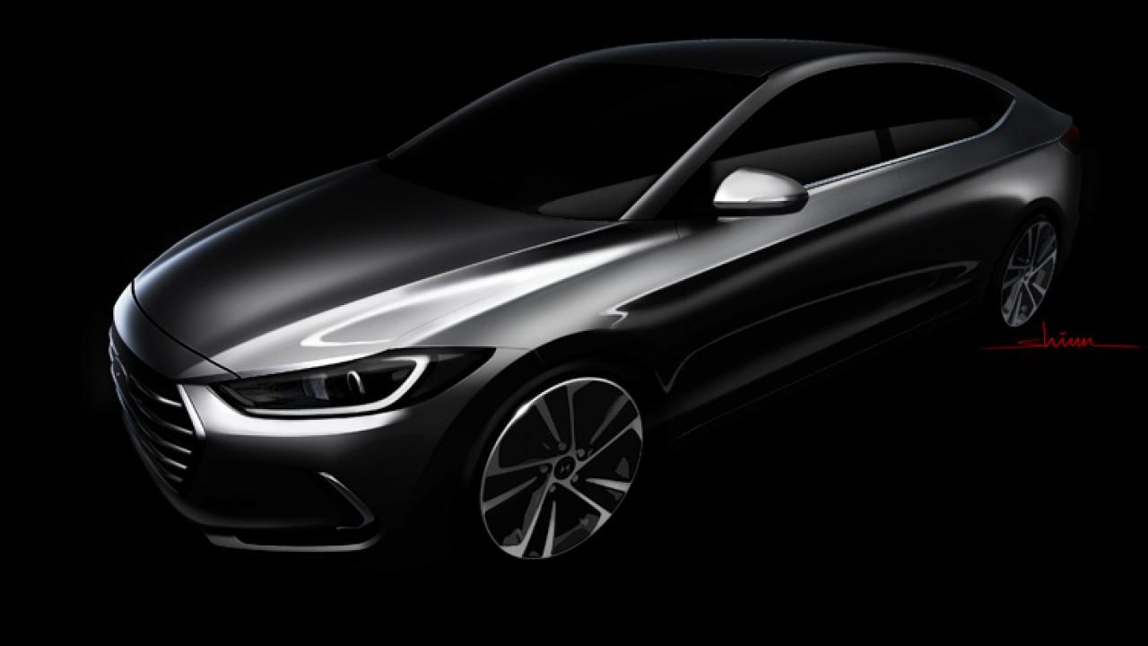 Novo Elantra 2017: Hyundai revela primeira imagem oficial