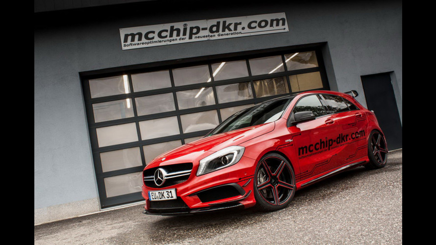 Mercedes A45 AMG, col tuning estremo sale a quota 450 CV
