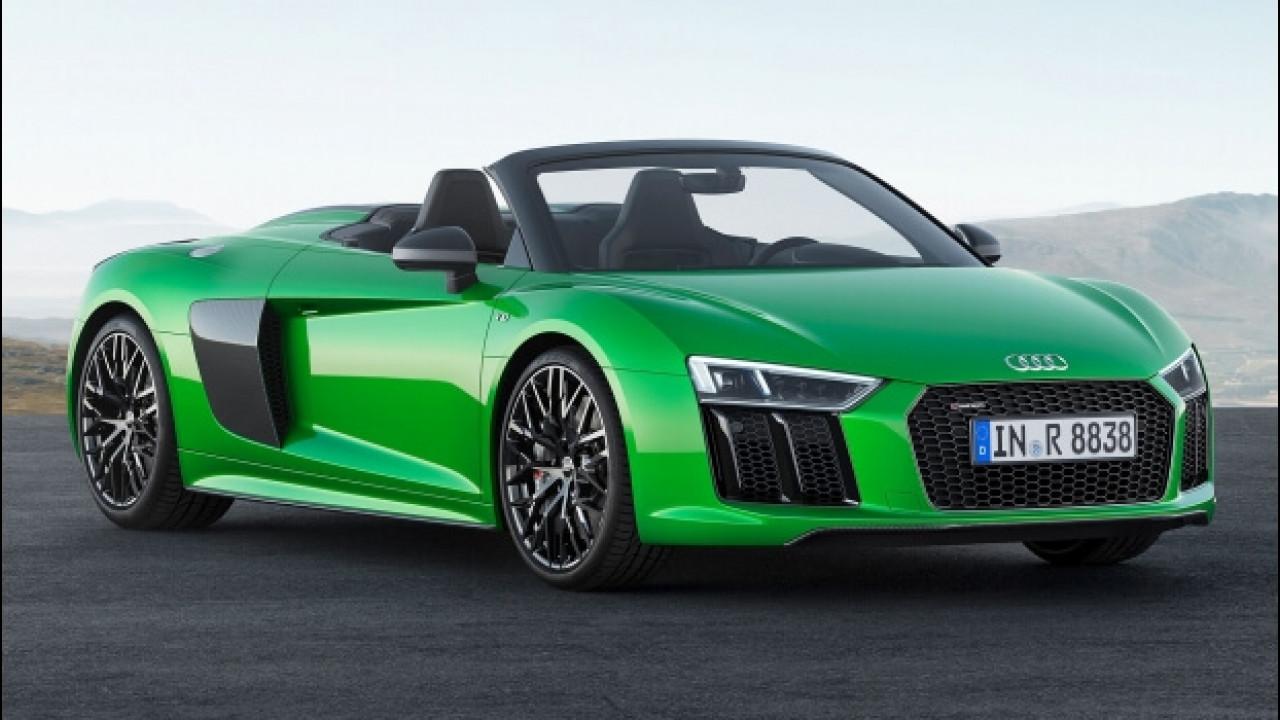 [Copertina] - Audi R8 Spyder V10 plus, la libertà di oltre 600 CV all'aperto