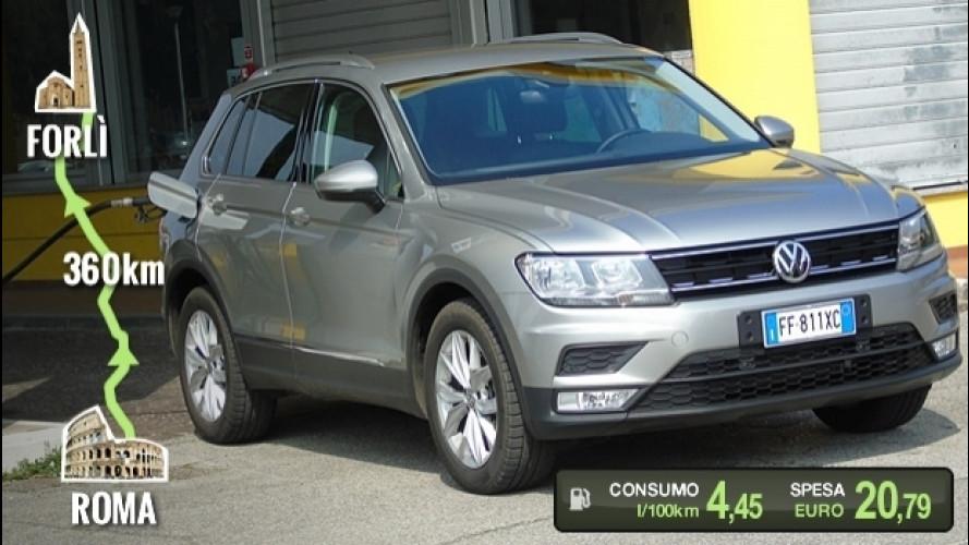 Volkswagen Tiguan 1.6 TDI, la prova dei consumi reali