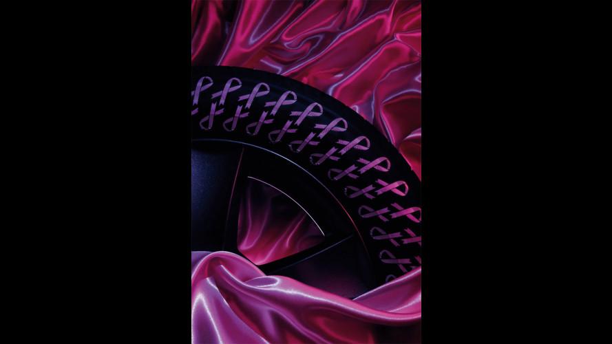 Bridgestone, due pneumatici rosa contro il tumore al seno