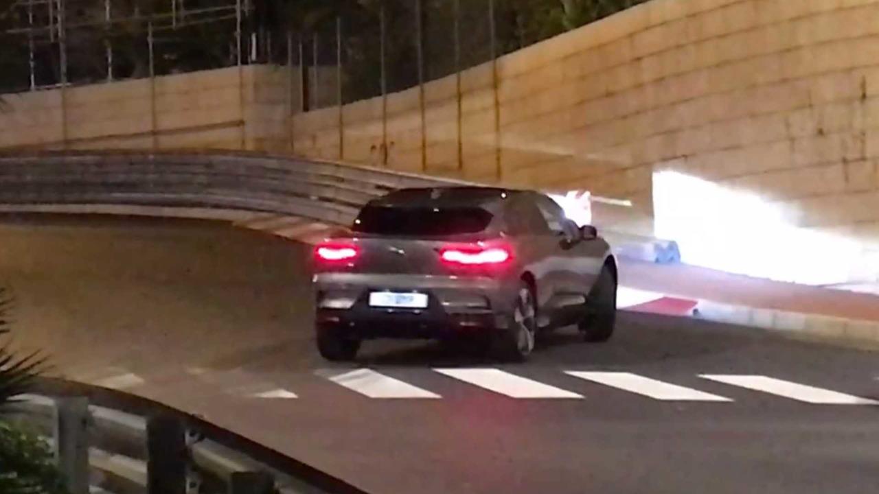 Jaguar I-Pace screenshot from spy video