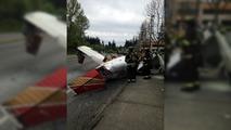 Uçak kazası fotoğrafları
