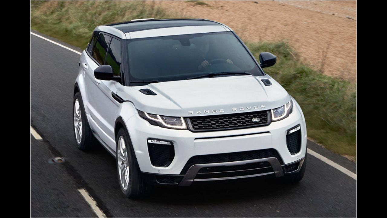 Platz 3: Range Rover Evoque, Durchschnittspreis 51.902 Euro