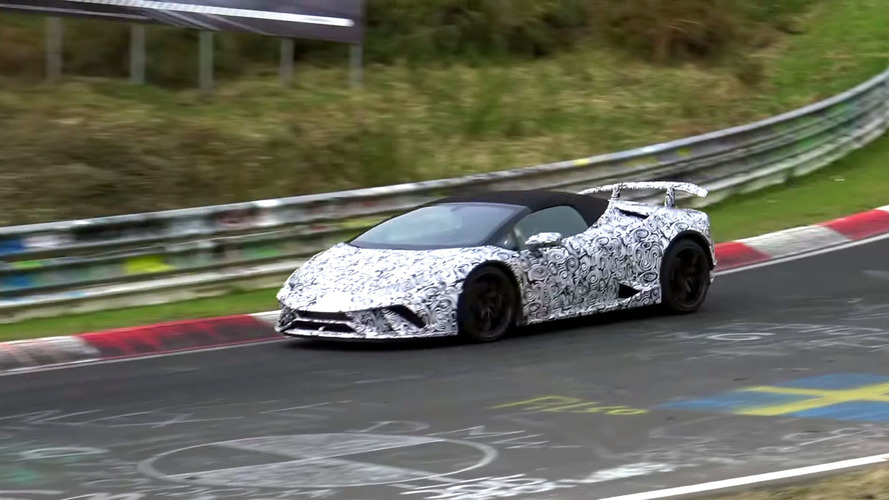 Lamborghini Huracan Performante Spyder Spy Video