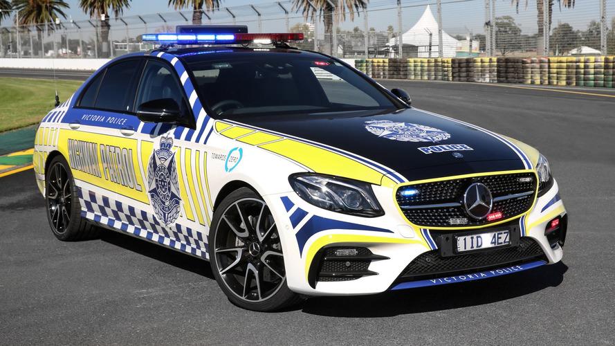 Mercedes-AMG E43 Sedan coche de policía en Victoria (Australia)