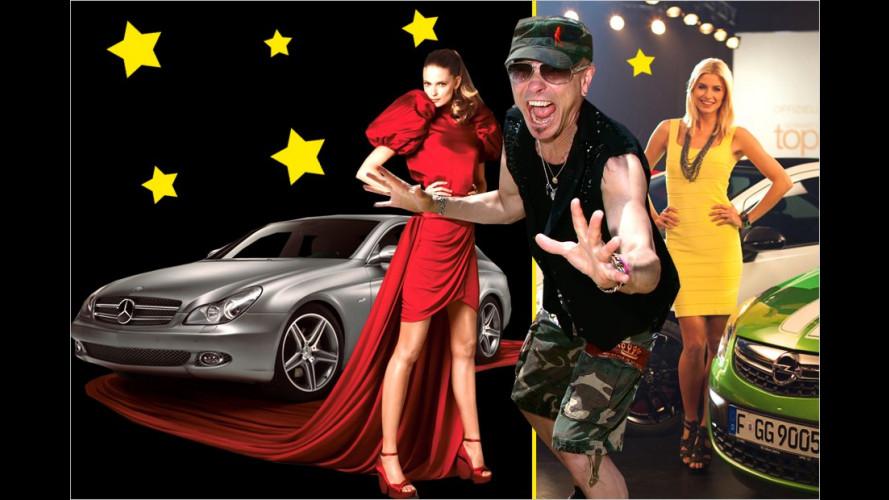 Stars und Cars: Wer fährt was, wer wirbt wofür?