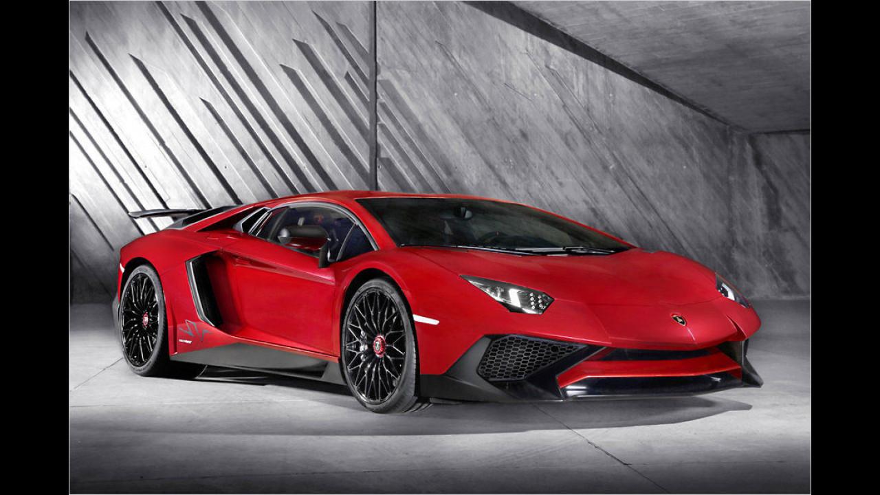 Lamborghini Aventador LP 750-4 SV: 2,8 Sekunden