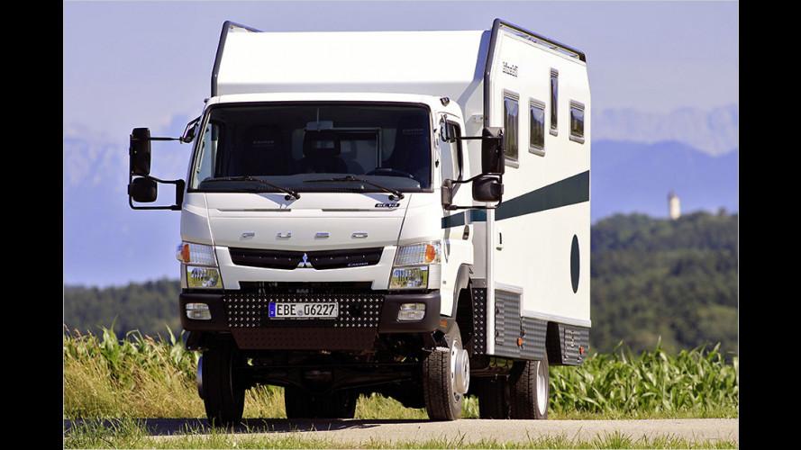 Fernreisefahrzeug Bimobil EX 460 auf Basis Fuso Canter 4x4