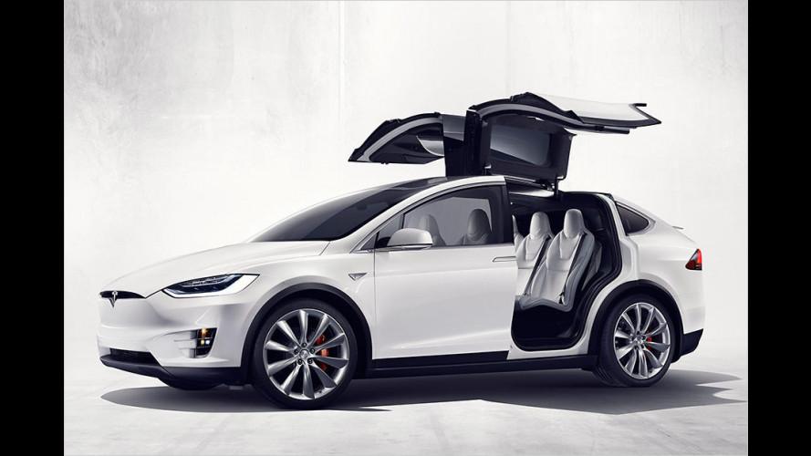 Tesla Model X: Flügeltürer-SUV mit 762 PS