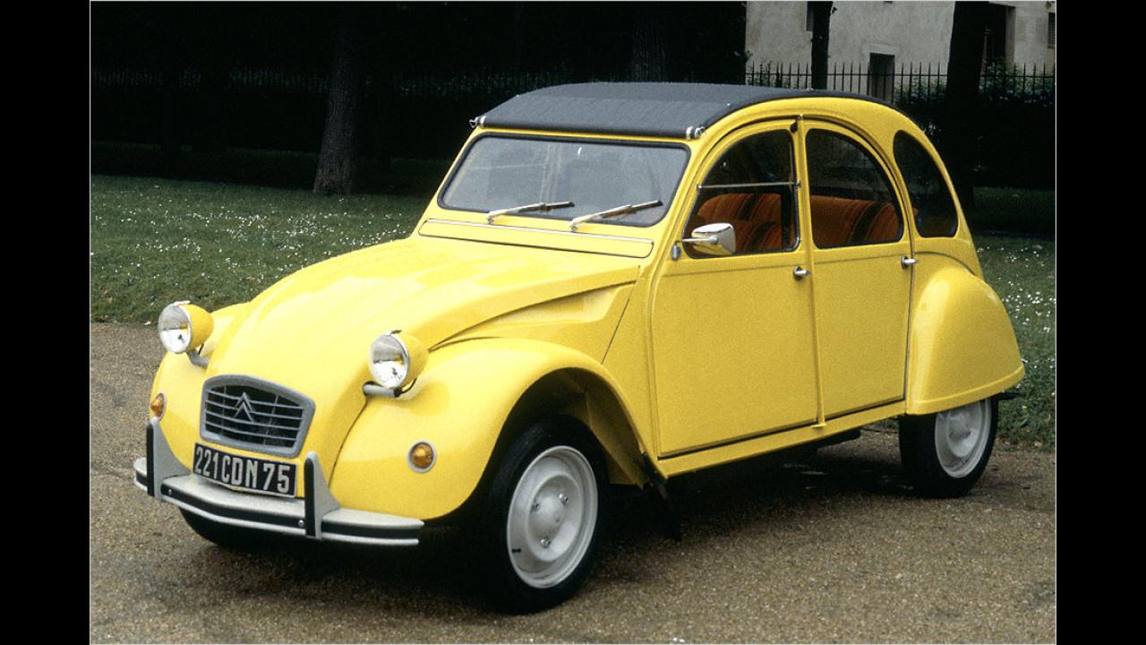 Citroën 2CV gegen Renault 4