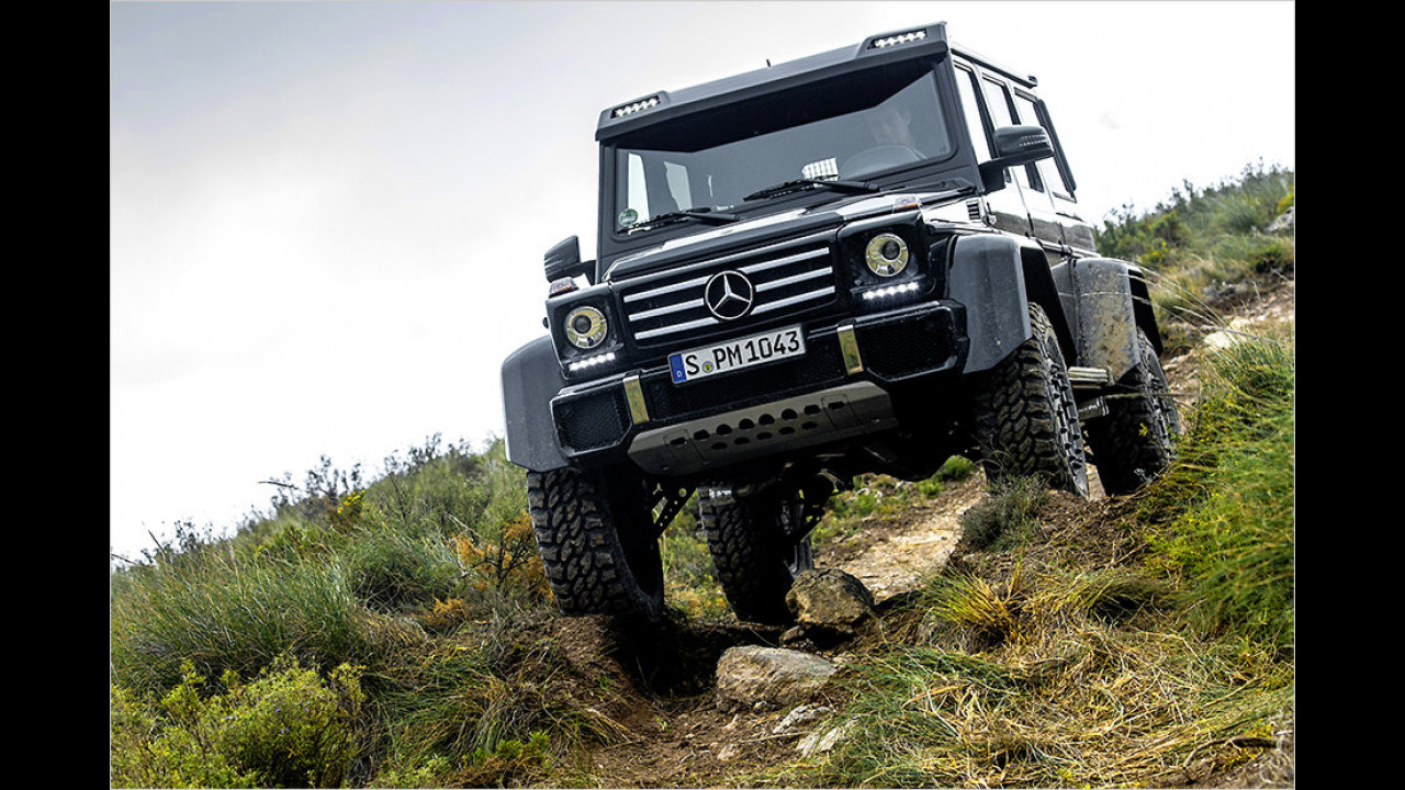 Breitestes Serienauto: Mercedes G 500 4x4², 2,10 Meter