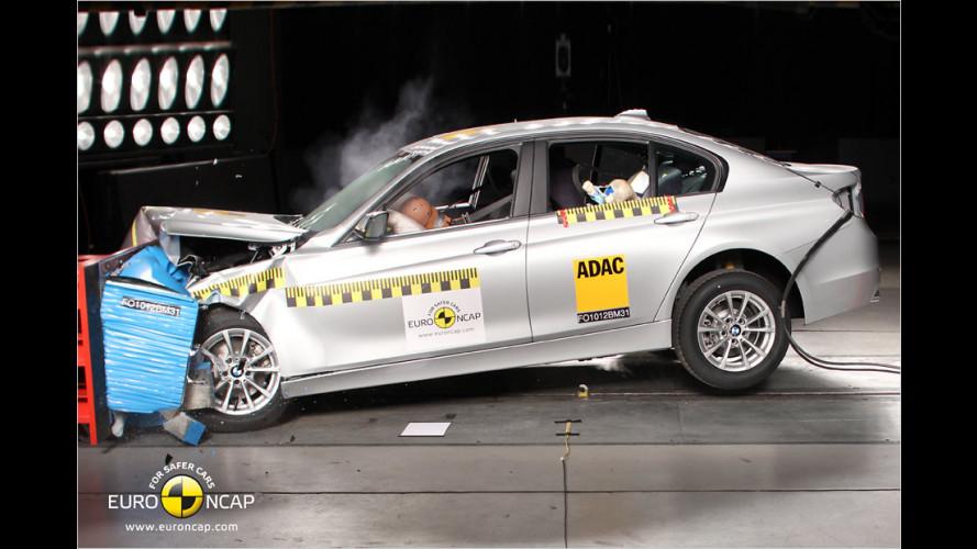 EuroNCAP-Crashtest: BMW 3er, Hyundai i30, Mazda CX-5, Peugeot 208