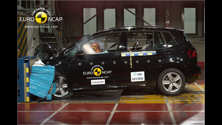 EuroNCAP-Crashtests (2014) von sechs Autos