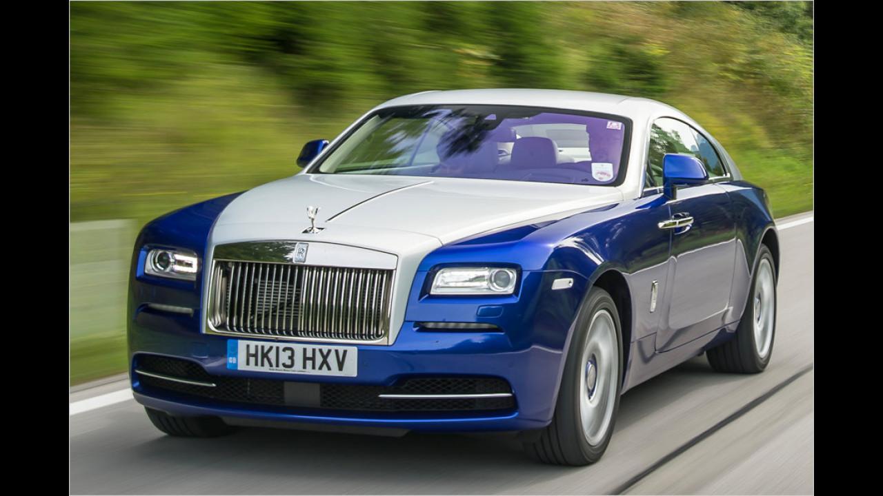 14 Stück waren es beim Rolls-Royce Wraith. Die meisten Zulassungen dürften von Händlern vorgenommen worden sein, denn Markteinführung war erst im Herbst des Jahres