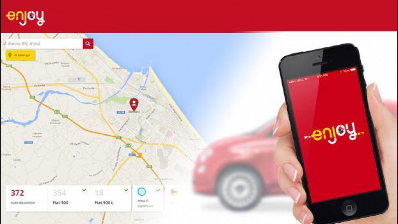 [Copertina] - Enjoy, il car sharing per chi va in vacanza a Rimini