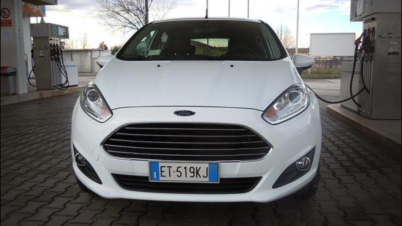 [Copertina] - Ford Fiesta 1.4 GPL in promozione, prova dei consumi