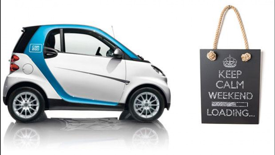 car2go: una smart per il weekend a 39 euro