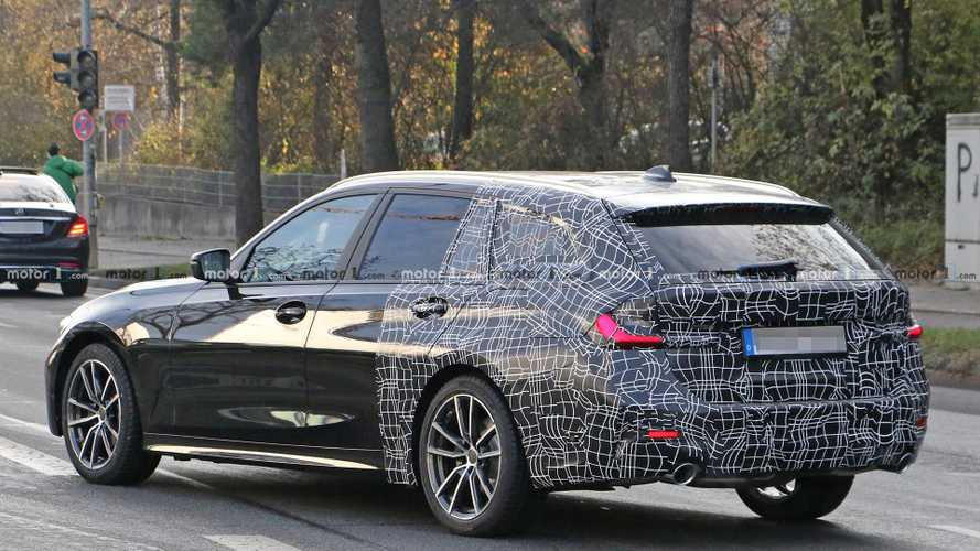 Next BMW 3 Series estate spied flaunting its ample rear