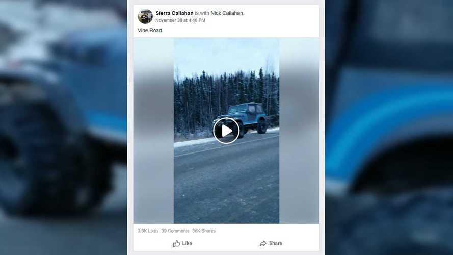 Jeep on Alaska Road