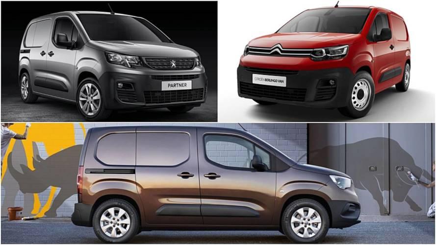 2019 Peugeot Partner, Citroen Berlingo, Opel Combo vans revealed