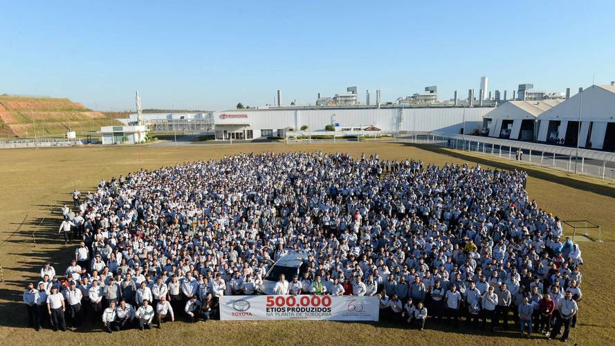 Toyota Etios - 500 mil unidades em Sorocaba (SP)