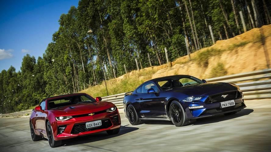 Ford Mustang já vende 25 vezes mais que o Camaro no Brasil