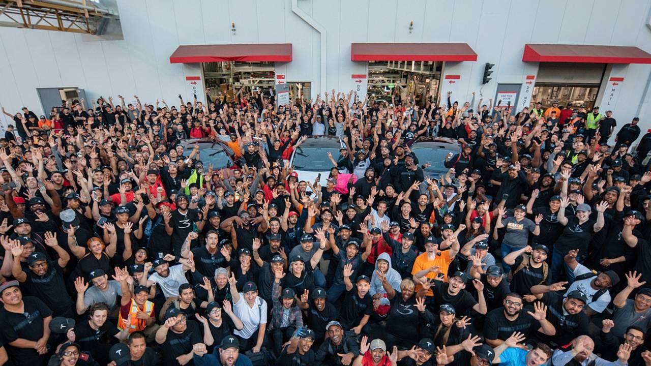 Tesla Celebrates Model 3 Production