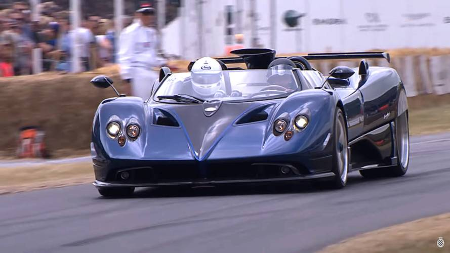 Watch The Rare Pagani Zonda HP Barchetta Climb The Goodwood Hill