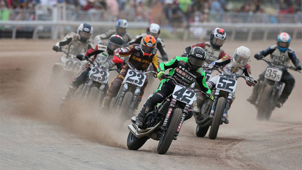 Indian and Honda Clinch Flat Track Manufacturer's Titles