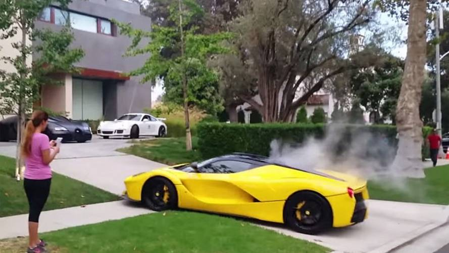 LaFerrari's Bizarre Drive through Beverly Hills Ends in Smoke
