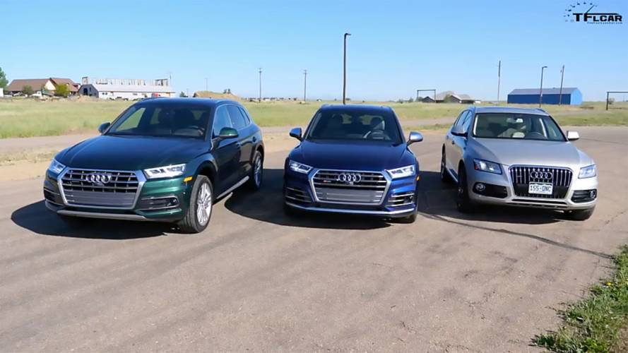 Watch An Audi Q5, SQ5, and Q5 Diesel Drag Race