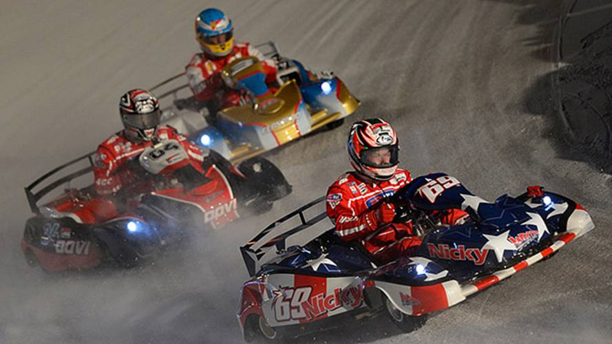 MotoGP vs Formula One, on ice