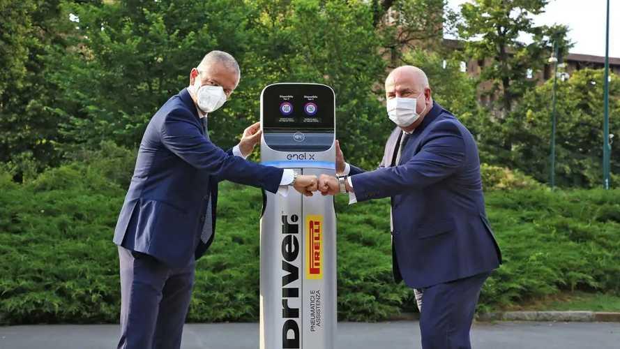 L'auto elettrica si ricarica dal gommista: accordo Pirelli-Enel X
