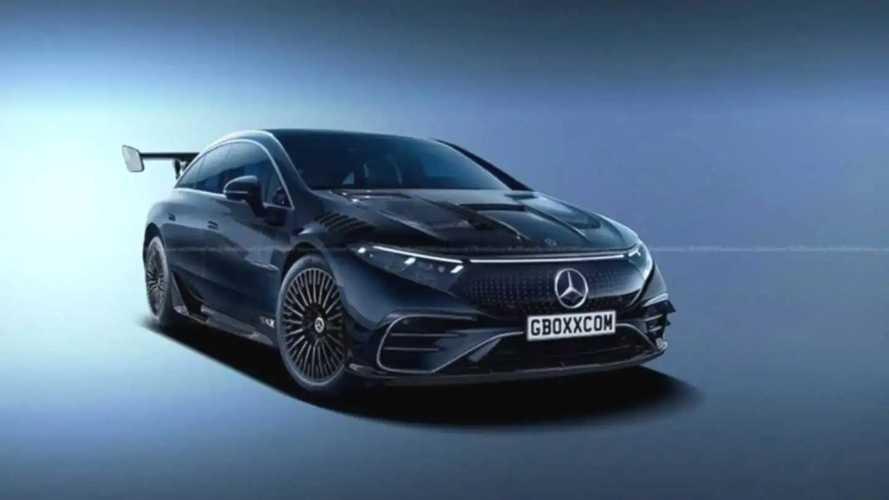 Imajinasi Liar Mercedes EQS Black Series dengan Widebody Kit
