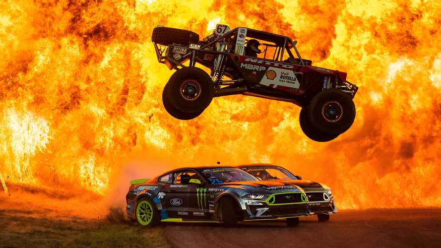 Watch Vaughn Gittin Jr. And Pals Slide Around During Explosions