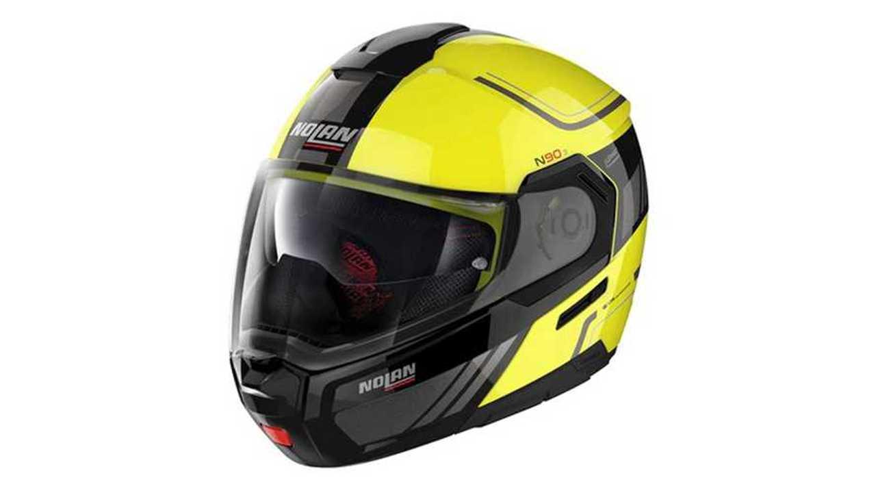 Nolan N90-3 Modular Helmet - Voyager (Hi-Viz)
