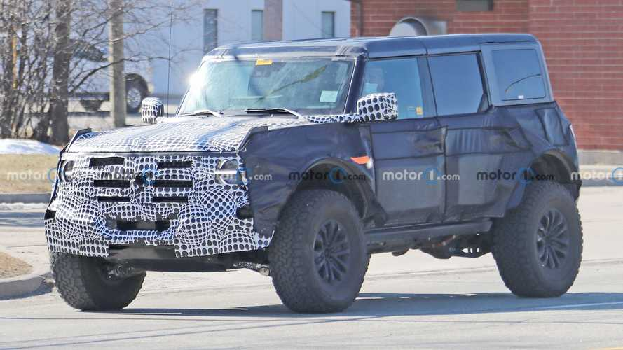 Ford Bronco Warthog Spied With Janky Exhaust Tip, Thick Power Cables